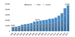 National drug overdose deaths